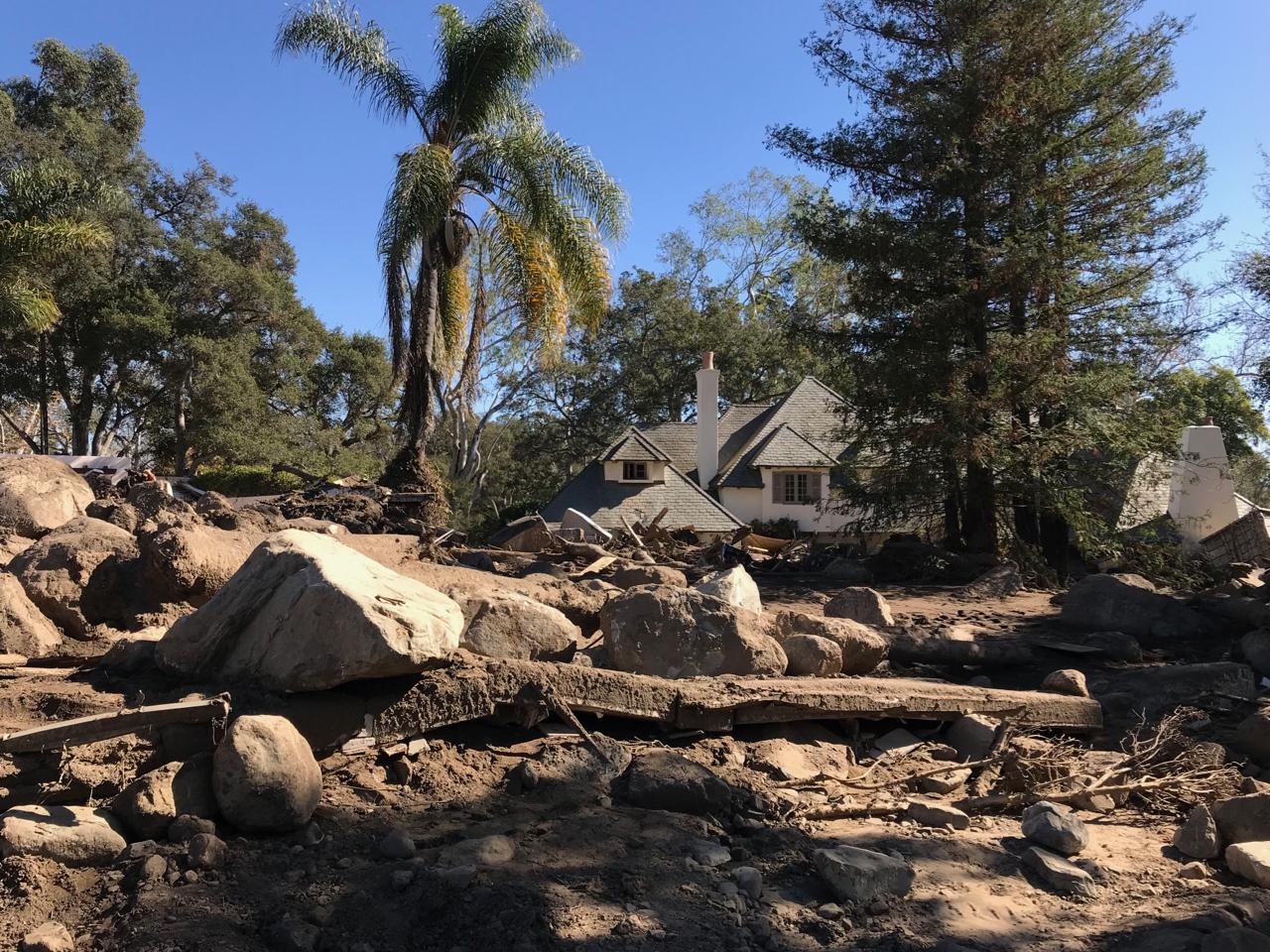 Montecito Mudslide Neighborhood