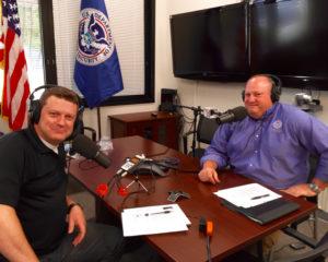 Shawn Boyd and Bob Fenton in recording studio