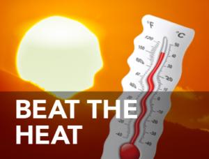 beat the heat graphic
