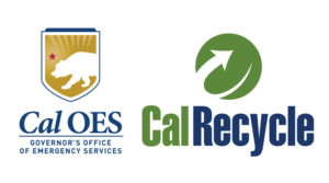 Logos for Cal OES and Cal Recycle