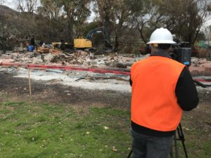 A Cal OES Videographer captures video of debris cleanup operations in Malibu