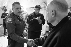 Sheriff Honea shaking hands with man