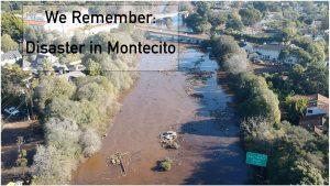 Montecito Mudslide Hwy 101 aerial