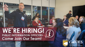 We're hiring public information officers. Come join our team!
