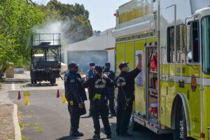 HazMat Teams Plan Simulated Chemical Leak Response