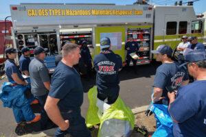 Hazmat Teams Respond to Simulated Chlorine Leak