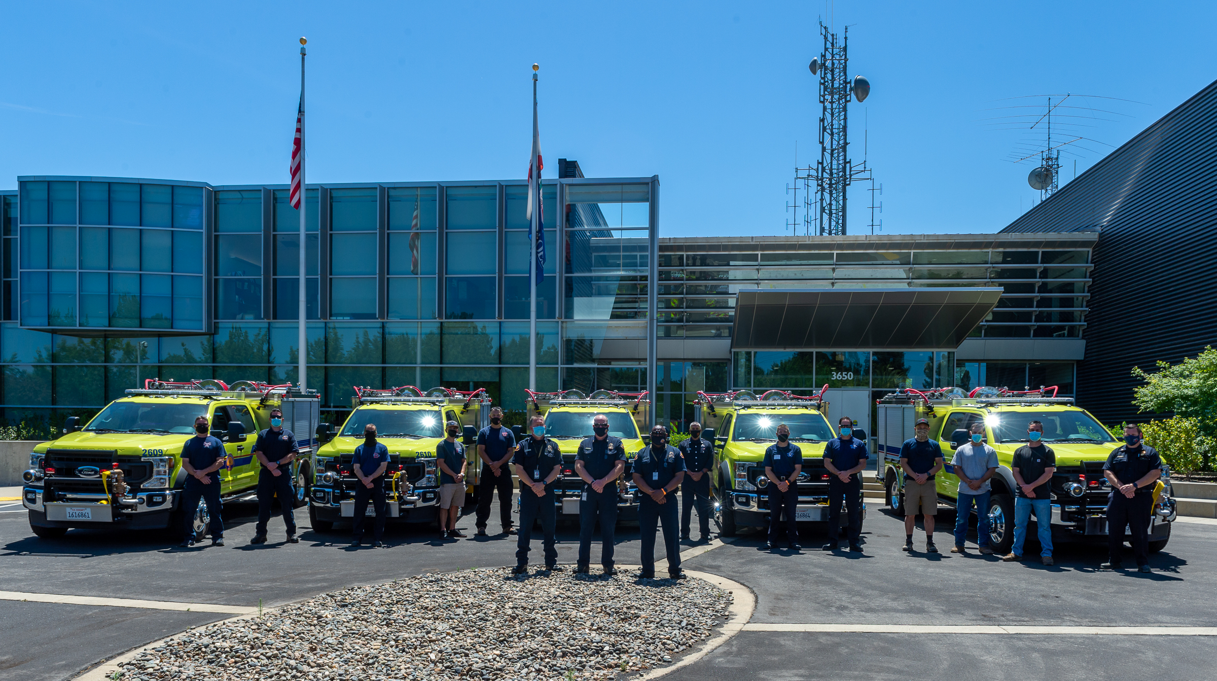 State Poised for 2021 Wildfire Season, Cal OES Delivers Five New Engines to Local Fire Agencies