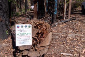 Hazmat removal sign