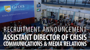 Recruitment Announcement Assistant Director of CrisisCommunications & Media Relations