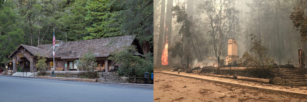 Big Basin HQ Before and After Fire