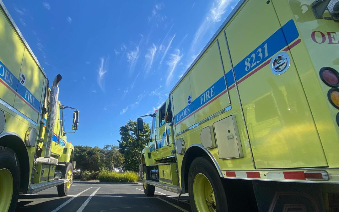 Deployment of Mutual Aid Resources Reaches Peak as Fires Burn Statewide