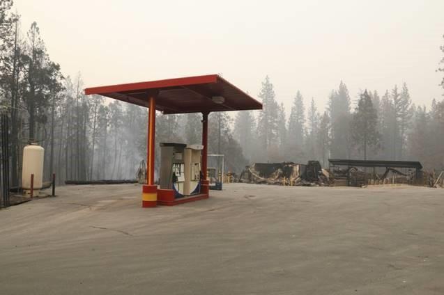 Gas pump at Village Market