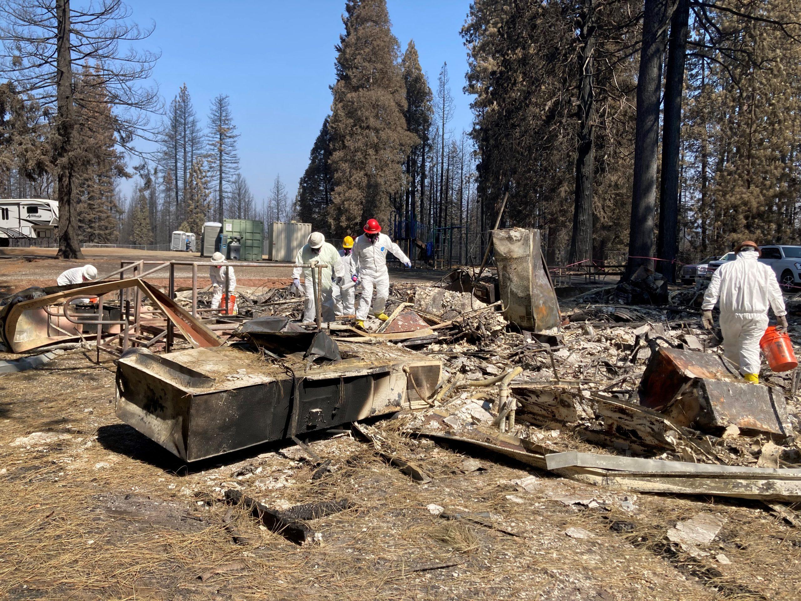 DTSC workers remove hazardous debris