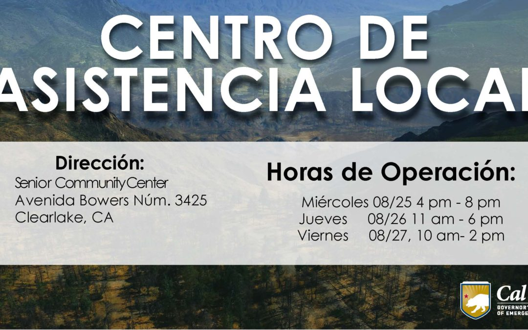 HABILITAN CENTRO DE ASISTENCIA LOCAL EN EL CONDADO LAKE