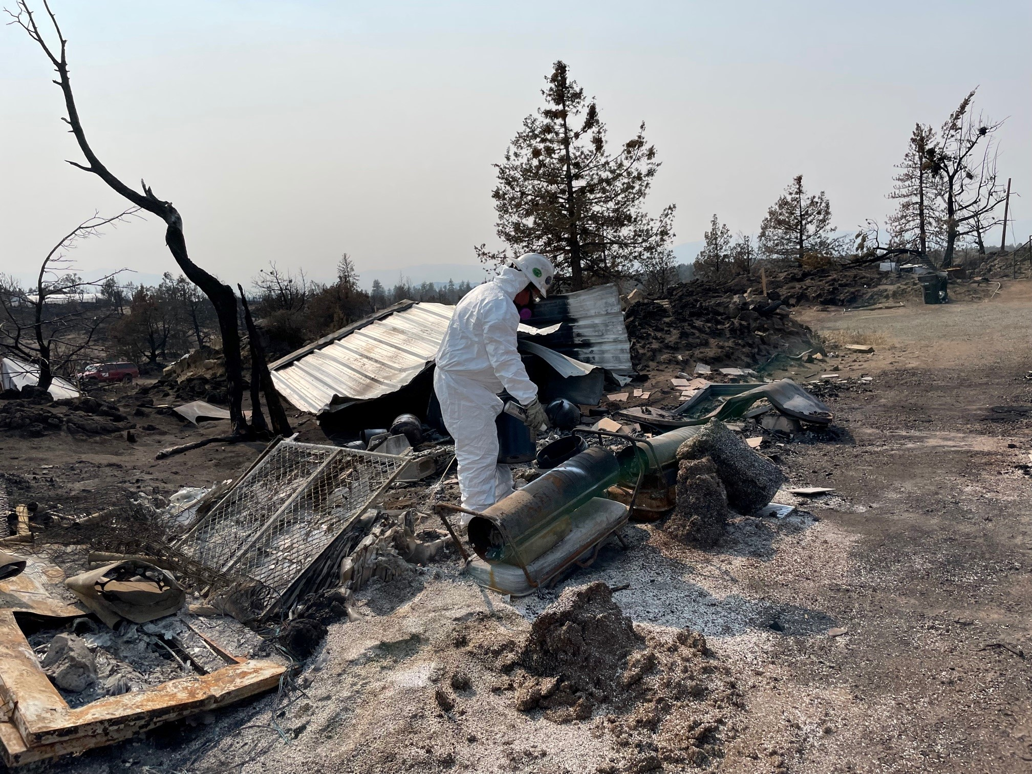 HazMat crews removing household hazardous waste