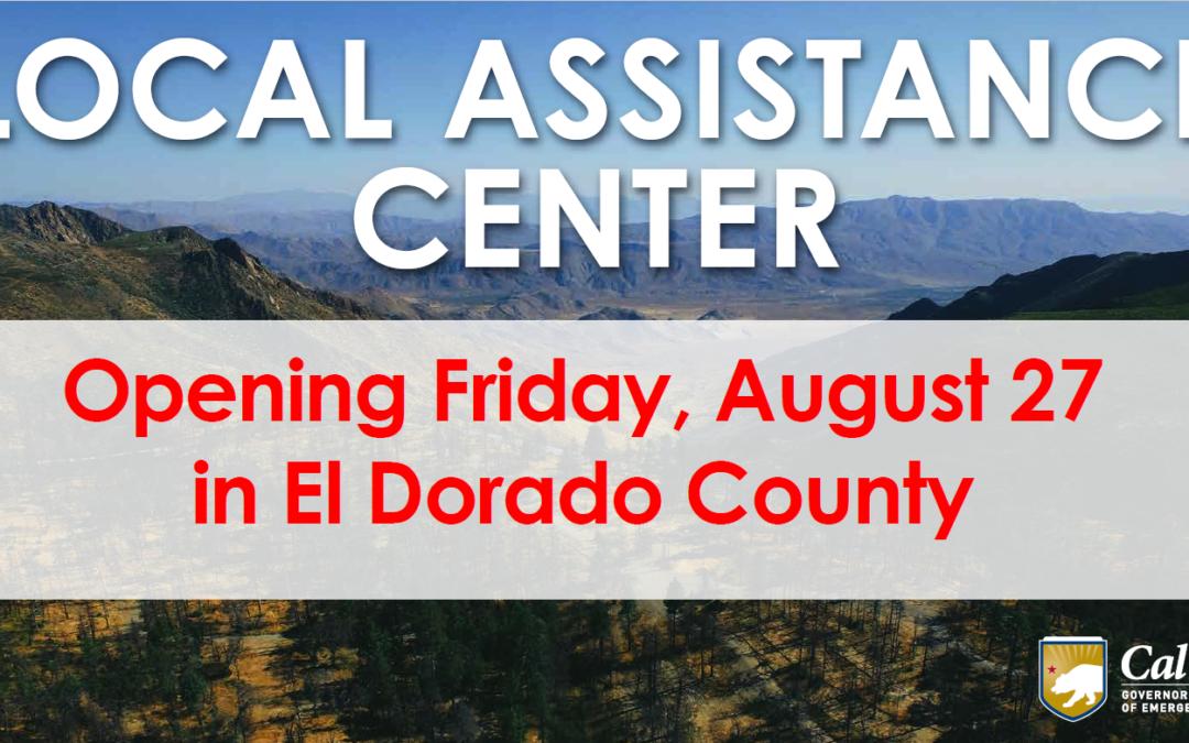 Update: El Dorado County Extends Local Assistance Center for Caldor Fire