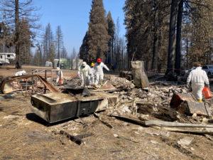 Crews performing household hazardous waste work