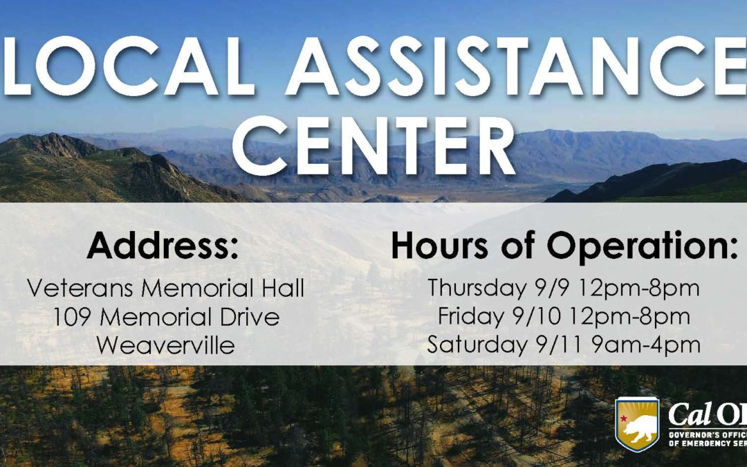 Local Assistance Center to Support Monument Fire Survivors
