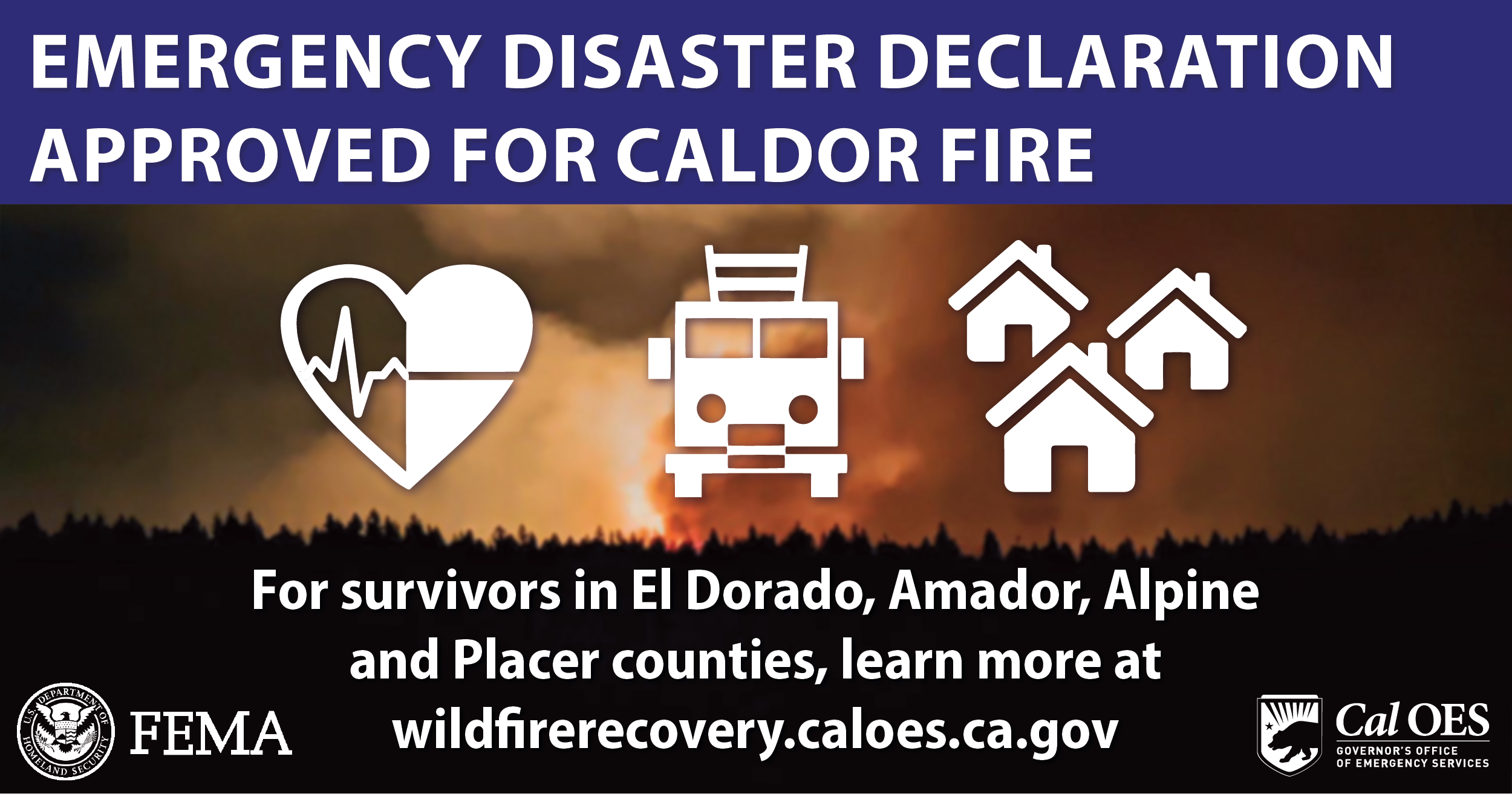 Emergency Disaster Declaration Approved for Caldor Fire