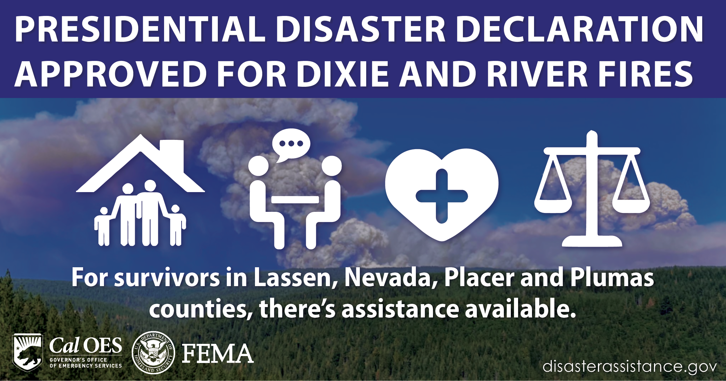 Presidential Disaster Declaration Approved for Dixie and River Fires